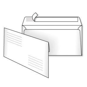 Конверт Е65 (1+0) СКЛ адресна сітка